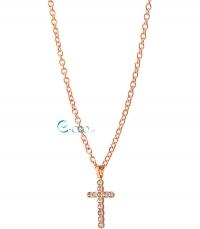 REBECCA Κολιέ από ανοξείδωτο ατσάλι Word Rose Gold BASKRB03 κοσμήματα   μαρκεσ   rebecca