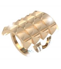 REBECCA Δαχτυλίδι από ανοξείδωτο ατσάλι Rebel Gold BREABO04 κοσμήματα   μαρκεσ   rebecca