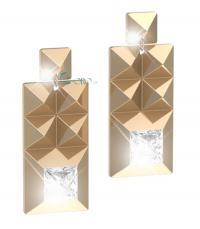 REBECCA Σκουλαρίκια από ανοξείδωτο ατσάλι Rebel Gold BREOOB22 κοσμήματα   μαρκεσ   rebecca