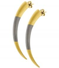 HONOR Σκουλαρίκια από επιχρυσωμένο Ασήμι 925 Tiger Claws HONORE35 κοσμήματα   μαρκεσ   honor
